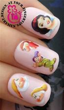 NAIL ART ACQUA trasferimento Decalcomanie BIANCANEVE e NANI DOPEY Scontroso DOC HAPPY # 518