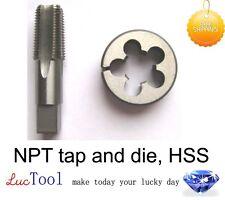 3/4-14 pipe tap and die, Npt tap and adj die, Hss