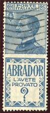 1924/5 Italia Regno Pubblicitari Abrador 25 cent. usato