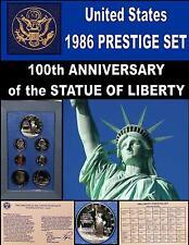 Prestige Set 1986 United States 100th Anniv. Proof Ellis Island Silver Dollar