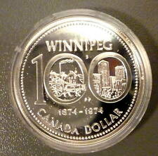 1974 $1 Winnipeg Commemorative Silver Dollar