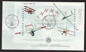 Sc 1807 souvenir sheet FDC - Canada - 1999 - International Air Show-  superfleas