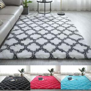 Anti-Slip Living Room Fluffy Floor Mat Bedroom Area Rug Plush Carpet Soft Rug