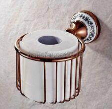 Rose Gold Brass Toilet Tissue Paper Holder Bathroom Paper Roll Holder