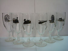 New listing Chance Manufacturing - Amusement Park Carnival Rides - Set of 6 Mcm Glasses 1968