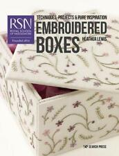 Embroidered Boxes by Heather Lewis, Royal School of Needlework (London, Engla...