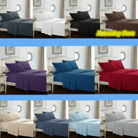 Egyptian Comfort 1800 Count 4P Bed Sheet Set Hotel Edition Deep Pocket Sheets 9H