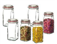 6x Vorratsgläser mit Bügelverschluss 1,5 L Lebensmittel Mehl Aufbewahrung Gläser