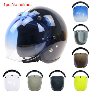 AU Universal 3-Snap Motorcycle Helmet Bubble Visor Flip Up Open Face Shield