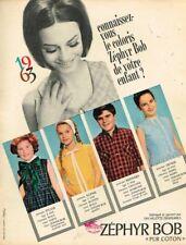 I - Publicité Advertising 1963 Vetement pour enfant tissu Zephyr Bob
