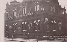London RP Postcard. Queen's Pk. Library. Harrow Rd. Paddington. 1911