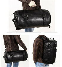 Men Sport Bag Gym Bag Waterproof Travel Duffel Backpack PU Leather Shoulder Bag