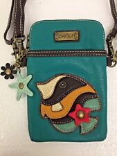 Chala Tropical Fish Cell Phone Crossbody Bag Small Convertible Turquoise Purse