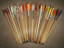 "Vintage '50'&'60's Custom Wood Archery Arrows, Most 27"",45-55lb,Display/Restore"
