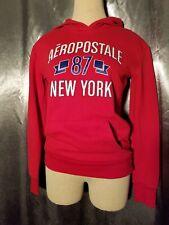 Vintage Red Aeropostale Women's 87  Hooded New York Sweatshirt Size Small
