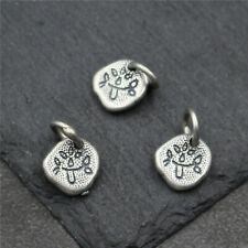 10pcs New 925 Sterling Silver Pendant Lovely Leaf Charm for DIY Jewelry