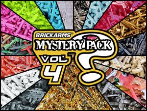 BrickArms GOLDEN MYSTERY PACK Vol. 4 -18 Random pcs W/ 24K GOLD Weapon!  NEW