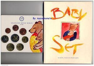 GERMANIA ALLEMAGNE 2002 BABY con le 8 monete UNC Zecca A + SPLENDIDA MEDAGLIA.
