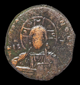 Anonymous Follis, Class A3, 976-1028 AD. Jesus Christ King of Kings