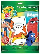 Crayola Finding Dory Color Colour Wonder Mess Free Colouring Set Book & 5 Marker