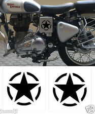 STAR CUSTOMISED MILITARY STAR BLACK  STICKER FOR BIKE/CAR