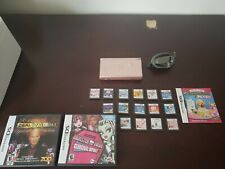 Rose Pink Ds Lite With 17 Games + Charger