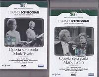 4 Dvd x 2 Box Sceneggiati Rai QUESTA SERA PARLA MARK TWAIN Stoppa completa 1965