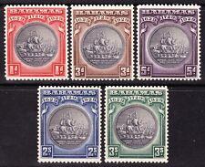 Bahamas 1930 Wmk Multi Script CA TERCENTENARY SG126-30 MLH OG