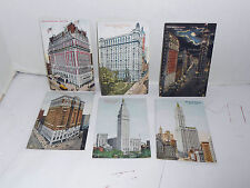 Lot of 6 Vintage 1912-13- New York City SUCCESS  POSTCARDS Times Square+NICE!!!