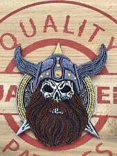 Viking Helmet Beard Skull Patch Morale mean face quality Army Military US Mean