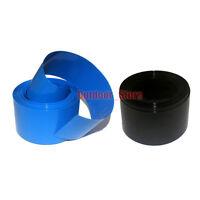 New Flat Width 405MM, Φ258MM PVC Heat Shrink Tubing Wrap 1M (Black/Blue)