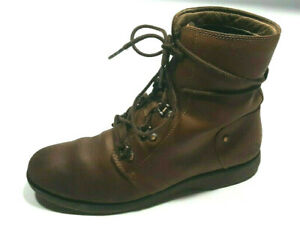 The North Face Combat Boots Women's 7 Brown Leather Lace Up Rubber Sole