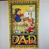 Mary Engelbreit DAD Father Daughters Storytime Garden Flag Indoor Outdoor 2006
