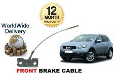 FOR NISSAN QASHQAI 5 SEAT MODEL 2006-2014 NEW FRONT HAND BRAKE CABLE SET