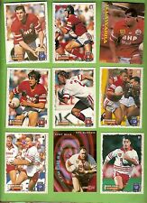 ILLAWARRA STEELERS  - LOT OF 27 RUGBY LEAGUE CARDS