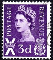 1963 Scotland Sg S1p 3d deep lilac Two Phosphor Bands Fine Used