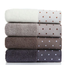 100% Cotton Solid Color Dot Pattern Bath Towel Absorbent Adult Hand Washcloth