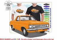 CLASSIC 66-68 HR HOLDEN UTE ILLUSTRATED T-SHIRT MUSCLE RETRO SPORTS