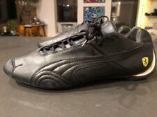 RARE Vtg. Puma FERRARI Black Leather Driving Drift Shoes Mens US 12. 300611 02