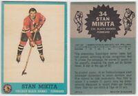 1962/63 Topps Stan Mikita Card #34 Chicago Black Hawks