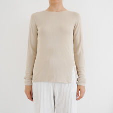 HOF115: COS Stricktop pullover beige / Fine-knit top with cut-out back birch XS