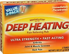 Mentholatum Deep Heating Pain Rub 2oz TWIN PACK***