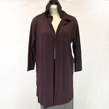 New J. Jill Pure Jill Plus Luxe Tencel Hoodie Purple Cardigan Sweater Coat 3X