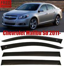 For Chevrolet Malibu SD 2011- Window Black Visor Rain Sun Guard Deflectors