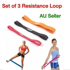 Set of 3 Heavy Duty RESISTANCE BAND LOOP Power Gym Yoga Exercise Fitness Workout