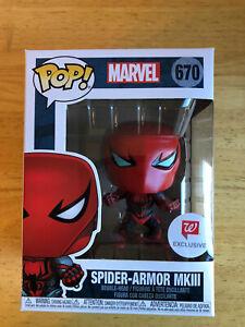 Funko Pop MARVEL Spider Armor MKIII Spider-man Walgreens Exclusive New #670