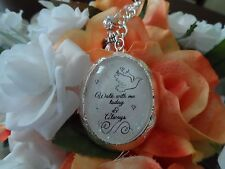Wedding Bouquet Locket Garland- Walk With Me Today-Loss Of A Loved One