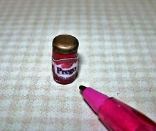 Miniature Glass Jar Brand Spaghetti Sauce (#1) w/Gold Lid for DOLLHOUSE, 1/12