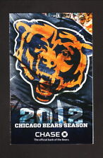 Chicago Bears--2012 Pocket Schedule--Athletico