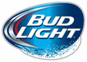 Bud Light Logo Sticker Car Bumper Decal - 3''